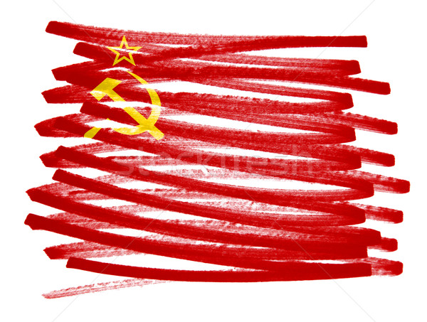 Vlag illustratie ussr pen business verf Stockfoto © michaklootwijk