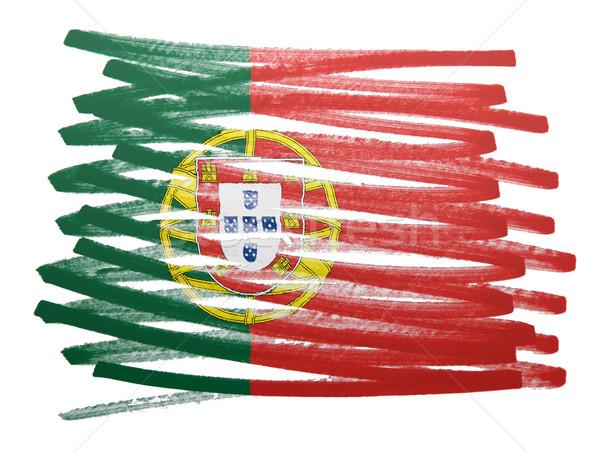 Flag illustration - Portugal Stock photo © michaklootwijk