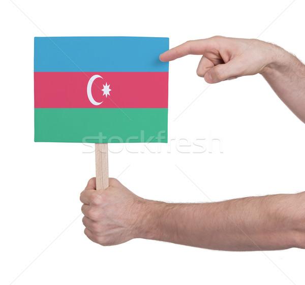 Mano pequeño tarjeta bandera Azerbaiyán Foto stock © michaklootwijk