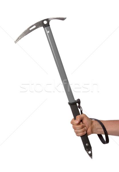 Well worn ice axe, life saving mountaineering tool Stock photo © michaklootwijk