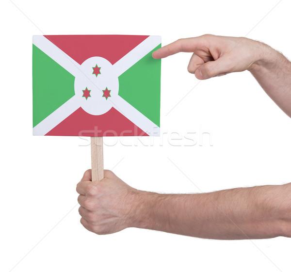 Hand klein kaart vlag Boeroendi Stockfoto © michaklootwijk