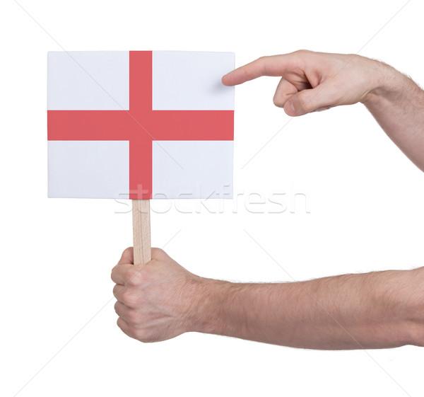 El küçük kart bayrak İngiltere Stok fotoğraf © michaklootwijk