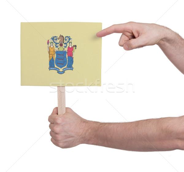 El küçük kart bayrak New Jersey Stok fotoğraf © michaklootwijk
