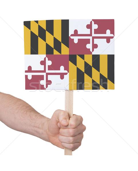 El küçük kart bayrak Maryland Stok fotoğraf © michaklootwijk