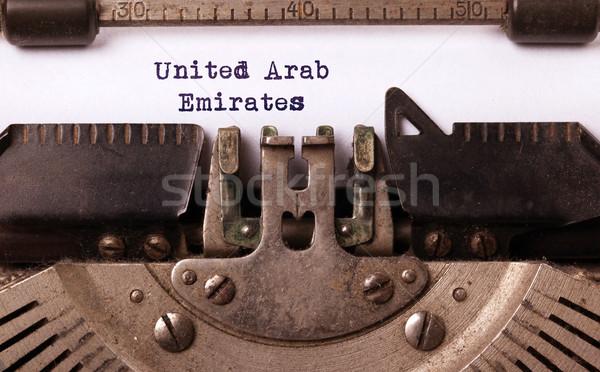 Old typewriter - United Arab Emirates Stock photo © michaklootwijk