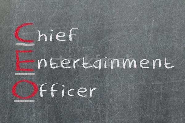 Akronim CEO szef rozrywki oficer tablicy Zdjęcia stock © michaklootwijk