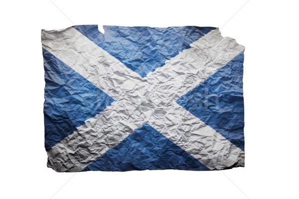 Papier ondulé blanche imprimer pavillon Écosse Photo stock © michaklootwijk