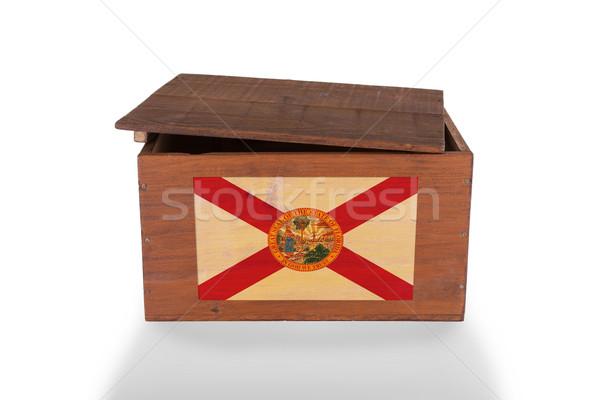 Stock fotó: Fából · készült · láda · izolált · fehér · termék · Florida