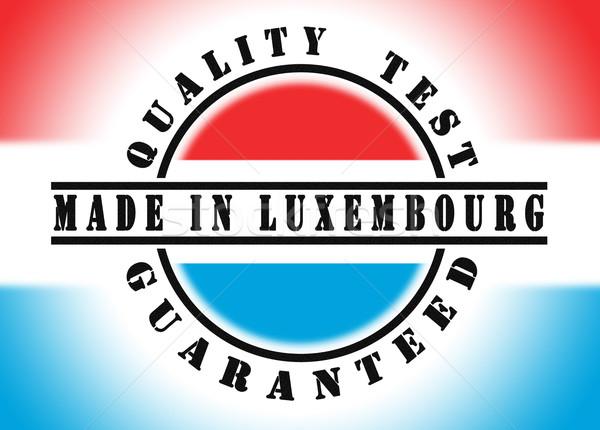 Kwaliteit test gegarandeerd stempel vlag binnenkant Stockfoto © michaklootwijk