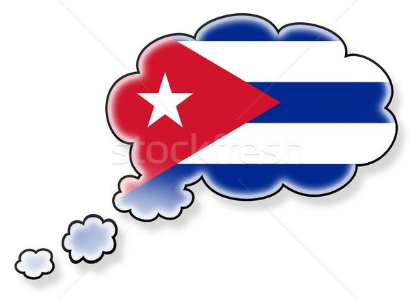 Vlag wolk geïsoleerd witte Cuba kunst Stockfoto © michaklootwijk