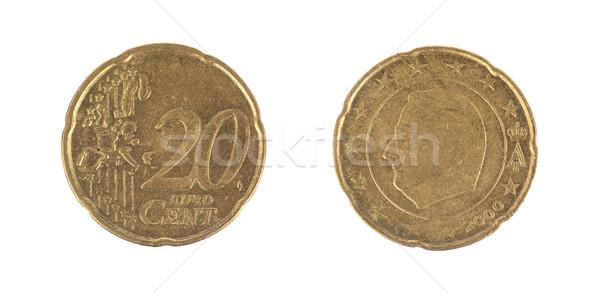 изолированный 20 евро цент монетами белый Сток-фото © michaklootwijk