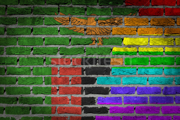 Dark brick wall - LGBT rights - Zambia Stock photo © michaklootwijk