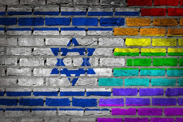 Ciemne murem prawa Izrael tekstury banderą Zdjęcia stock © michaklootwijk