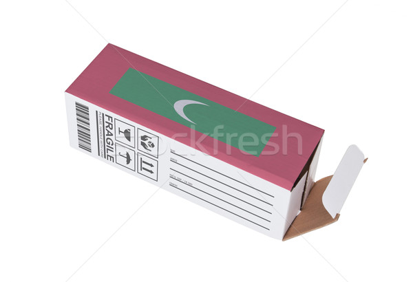 Exportar produto Maldivas papel caixa Foto stock © michaklootwijk