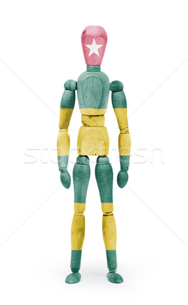 Wood figure mannequin with flag bodypaint - Togo Stock photo © michaklootwijk