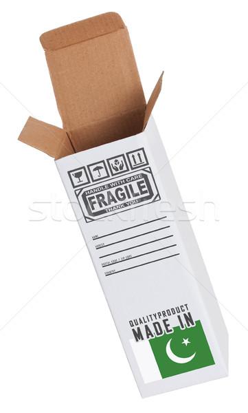 Exportar produto Paquistão papel caixa Foto stock © michaklootwijk