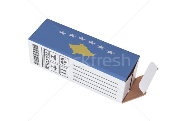 Exportar produto Kosovo papel caixa Foto stock © michaklootwijk