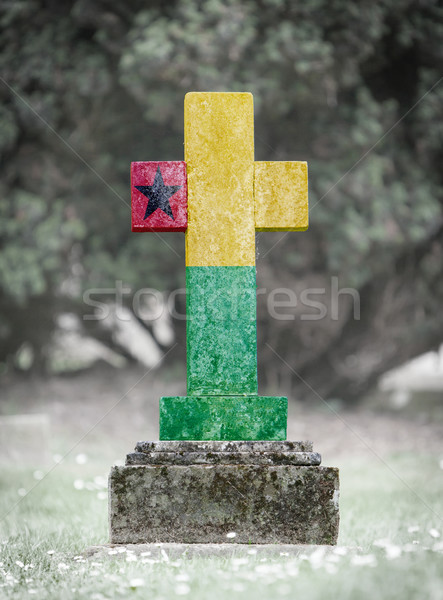 Gravestone in the cemetery - Guinea Bissau Stock photo © michaklootwijk