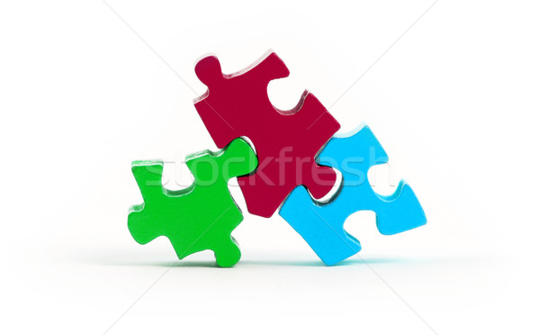 Jigsaw puzzle pieces isolated Stock photo © michaklootwijk