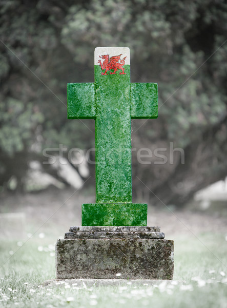 Gravestone in the cemetery - Wales Stock photo © michaklootwijk
