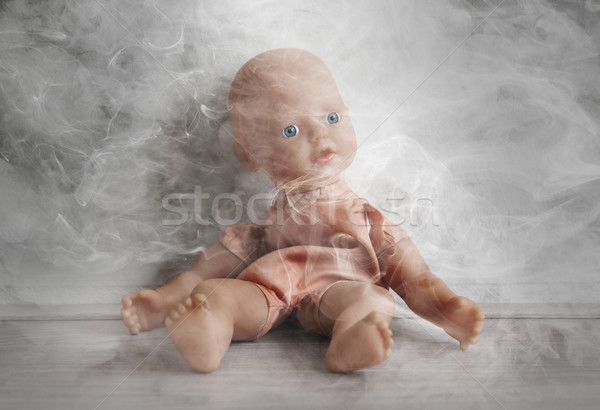 Concept of child abuse - Smoking in vicinity of children Stock photo © michaklootwijk