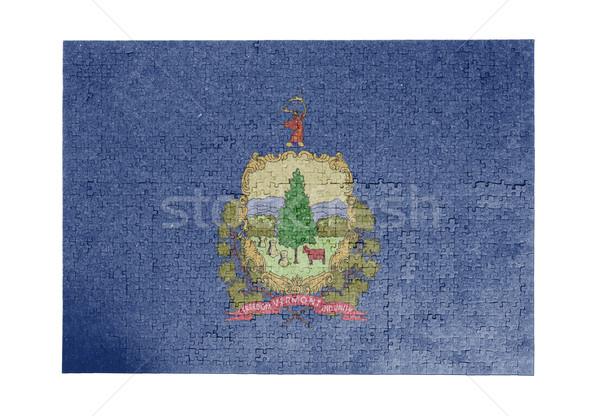 Büyük 1000 parçalar Vermont bayrak Stok fotoğraf © michaklootwijk