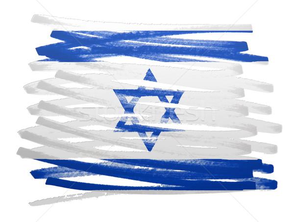 Vlag illustratie Israël pen ontwerp achtergrond Stockfoto © michaklootwijk