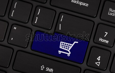 Ecommerce shopping online basket icona simbolo Foto d'archivio © michaklootwijk