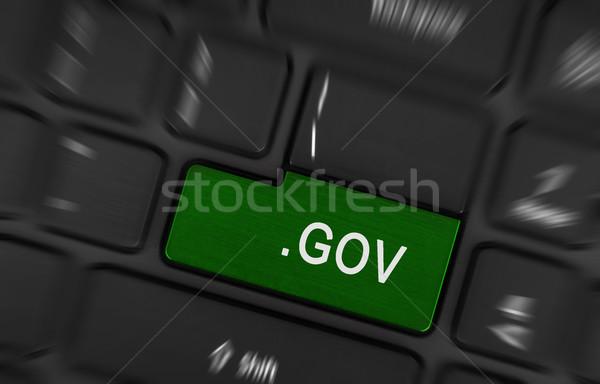 Stok fotoğraf: Bilgisayar · anahtar · yeşil · modern · dizüstü · bilgisayar · dünya