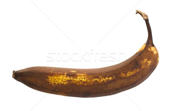 érett banán izolált fehér gyümölcs szín Stock fotó © michaklootwijk