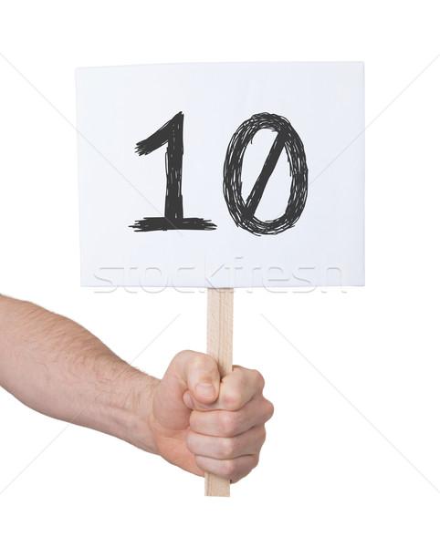Signo número 10 aislado blanco negocios Foto stock © michaklootwijk