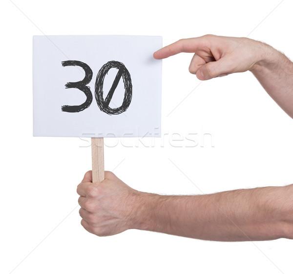 Assinar número 30 isolado branco negócio Foto stock © michaklootwijk