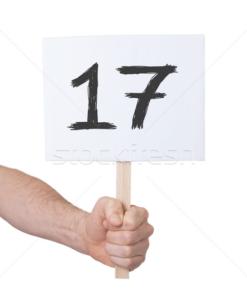 Sign with a number, 17 Stock photo © michaklootwijk