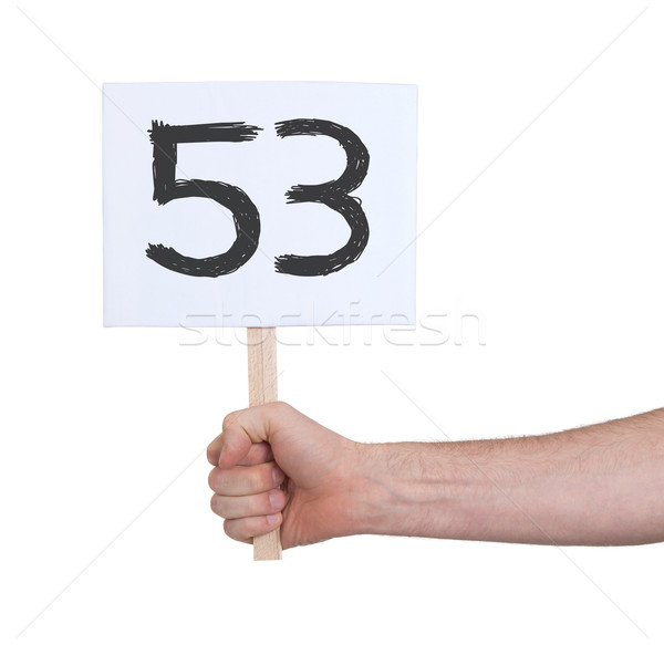 Sign with a number, 53 Stock photo © michaklootwijk