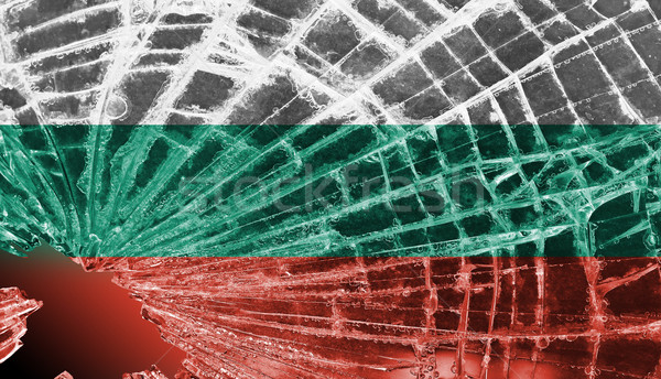 Broken glass or ice with a flag, Bulgaria Stock photo © michaklootwijk