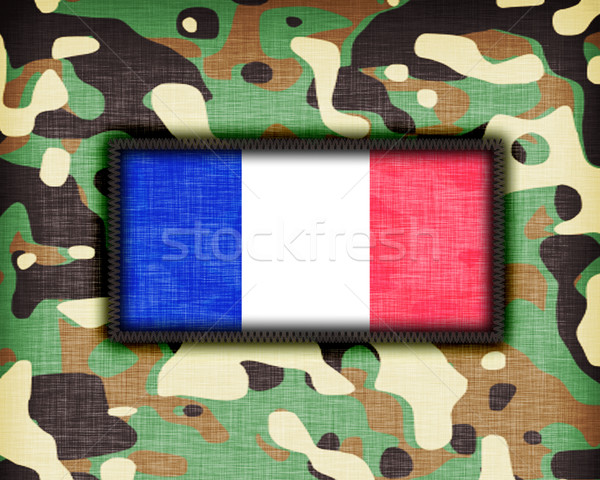 Amy camouflage uniform, France Stock photo © michaklootwijk