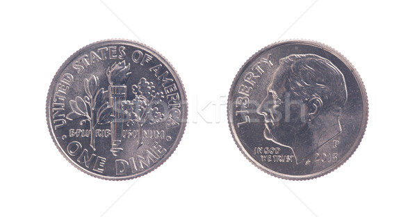 One american dime coin  Stock photo © michaklootwijk