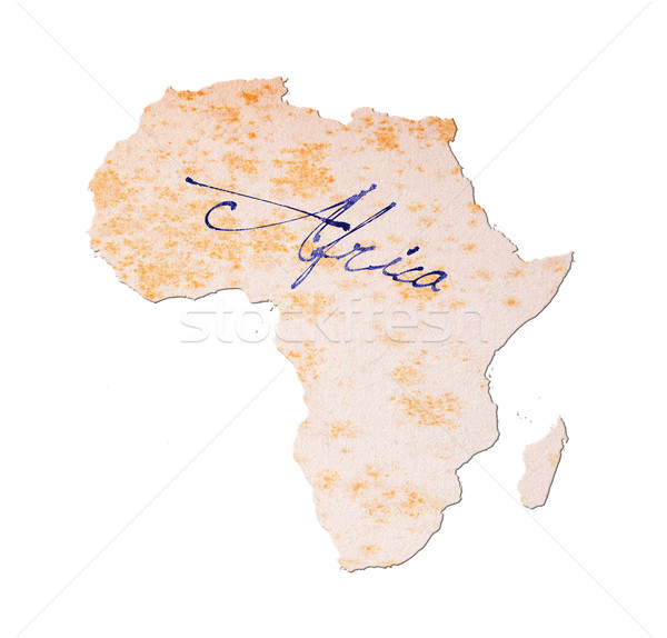 アフリカ 古い紙 手書き 青 インク 教育 ストックフォト © michaklootwijk