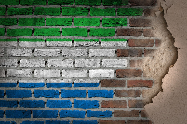 Dark brick wall with plaster - Sierra Leone Stock photo © michaklootwijk