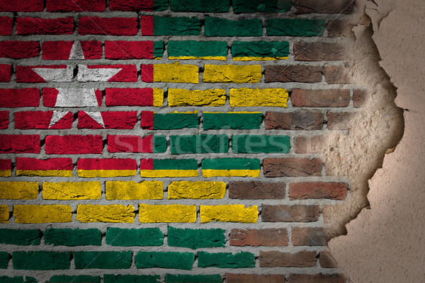 темно кирпичная стена штукатурка Того текстуры флаг Сток-фото © michaklootwijk