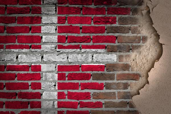 Sombre mur de briques plâtre Danemark texture pavillon Photo stock © michaklootwijk