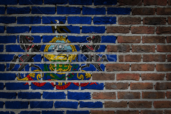 Muur textuur vlag oude donkere Rood Stockfoto © michaklootwijk