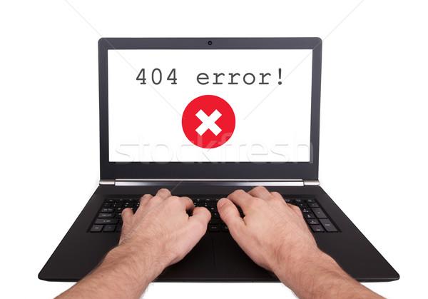 男 作業 ノートパソコン 404 エラー 孤立した ストックフォト © michaklootwijk