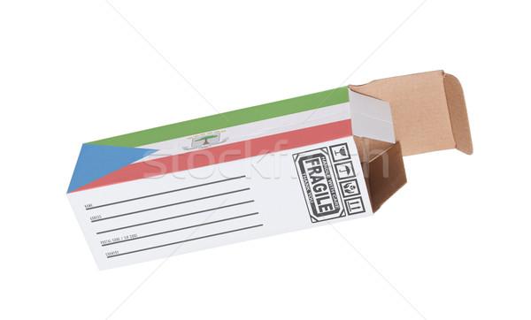 Eksport produktu Gwinea Równikowa papieru polu Zdjęcia stock © michaklootwijk