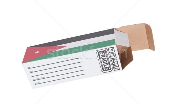 экспорт продукт Иордания бумаги окна Сток-фото © michaklootwijk