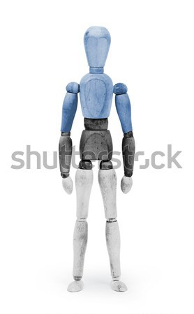 Wood figure mannequin with flag bodypaint - Estonia Stock photo © michaklootwijk