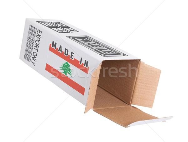 Concept of export - Product of Lebanon Stock photo © michaklootwijk
