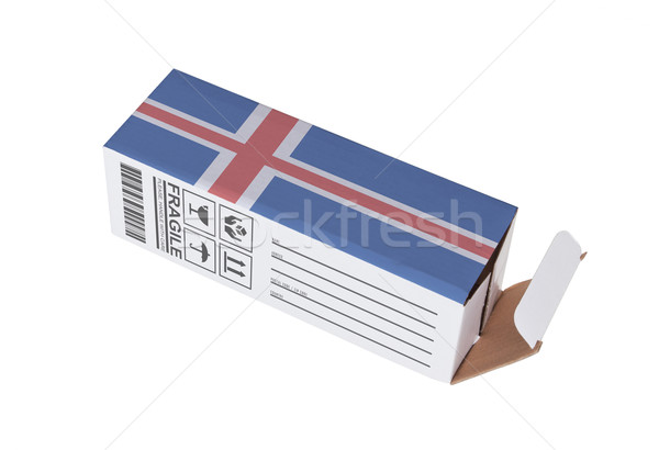 エクスポート 製品 アイスランド 紙 ボックス ストックフォト © michaklootwijk