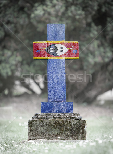 Gravestone in the cemetery - Swaziland Stock photo © michaklootwijk