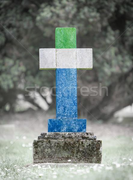 Gravestone in the cemetery - Sierra Leone Stock photo © michaklootwijk